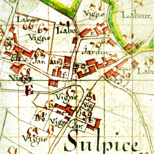 Old map of St Sulpice