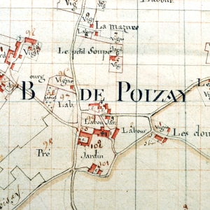 Old map of Poizay