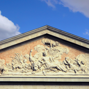 Pediment of the Sheephold of Les Ormes