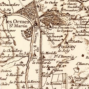 Old map of les Ormes