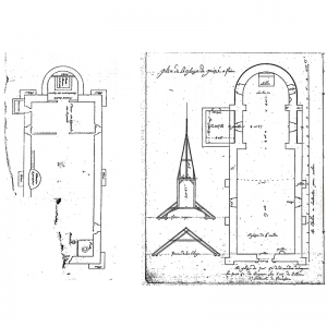 Plan of the church of Poizay