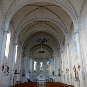 Nave of the Church of Les Ormes