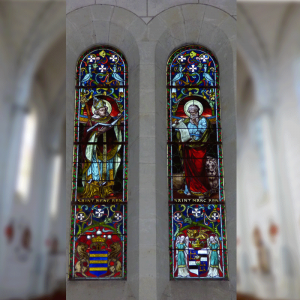 Stained glasses of the Church of Les Ormes