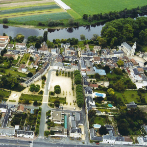 Sky view of les Ormes