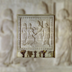 Stone altarpiece